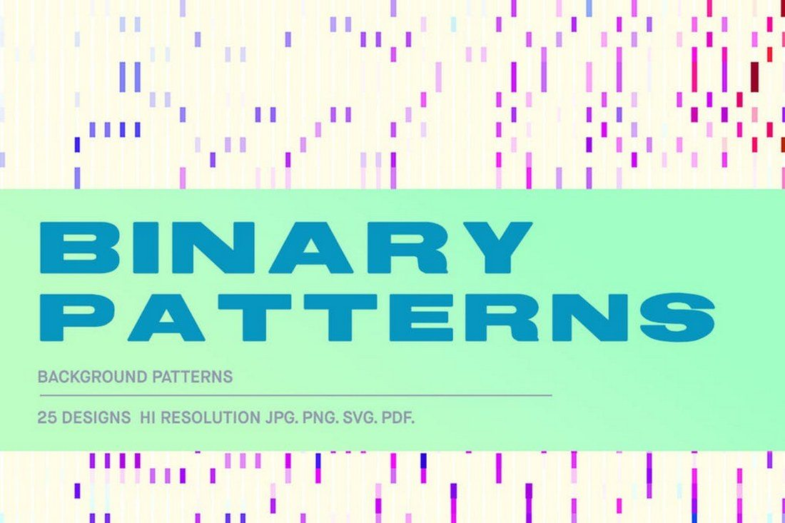 Binary-Patterns 30+ Best Line Patterns & Textures design tips