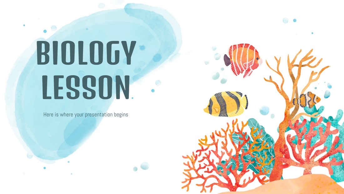 Biology Lesson - Free PowerPoint Template