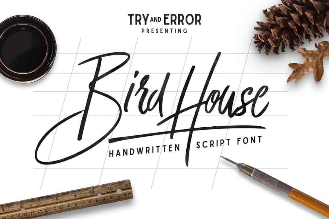 Bird House - Modern Wedding Font