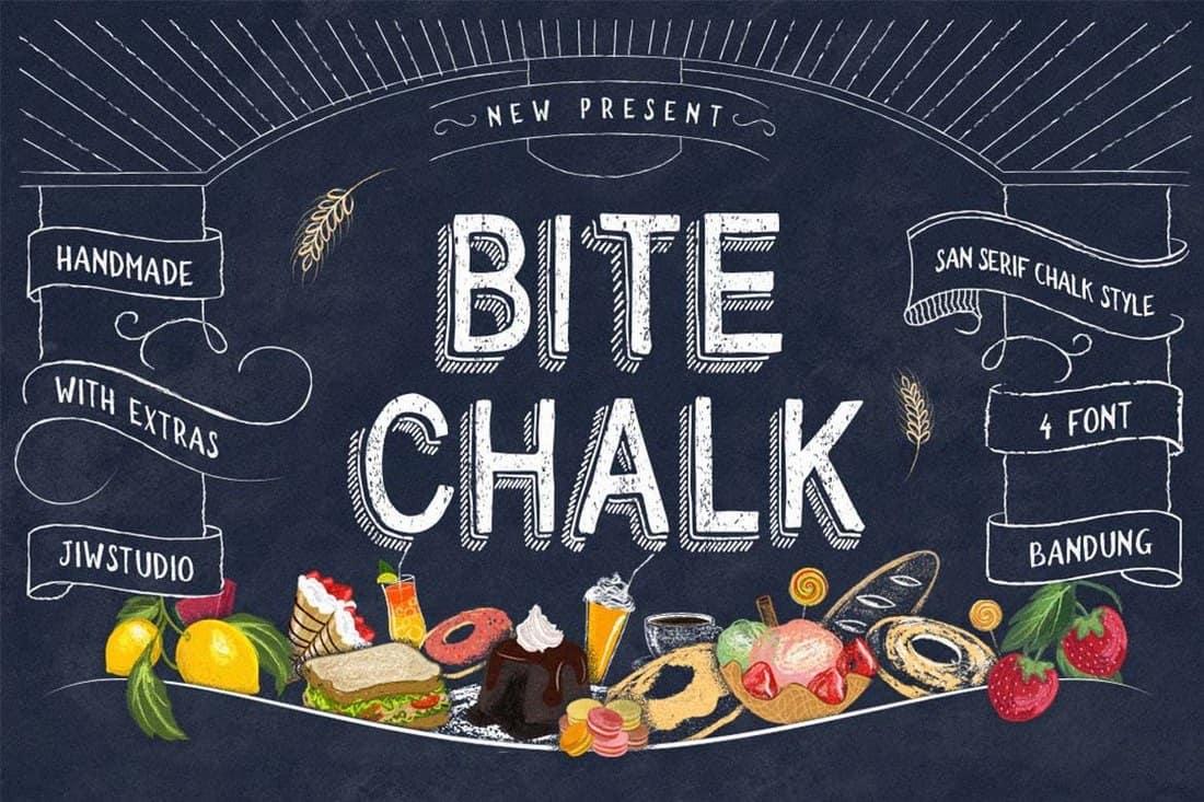BiteChalk - Handmade Chalkboard Font