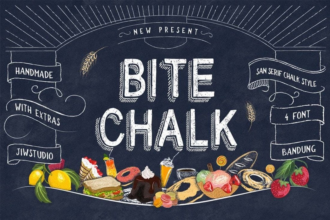 BiteChalk-Typeface 40+ Best Condensed & Narrow Fonts of 2019 design tips