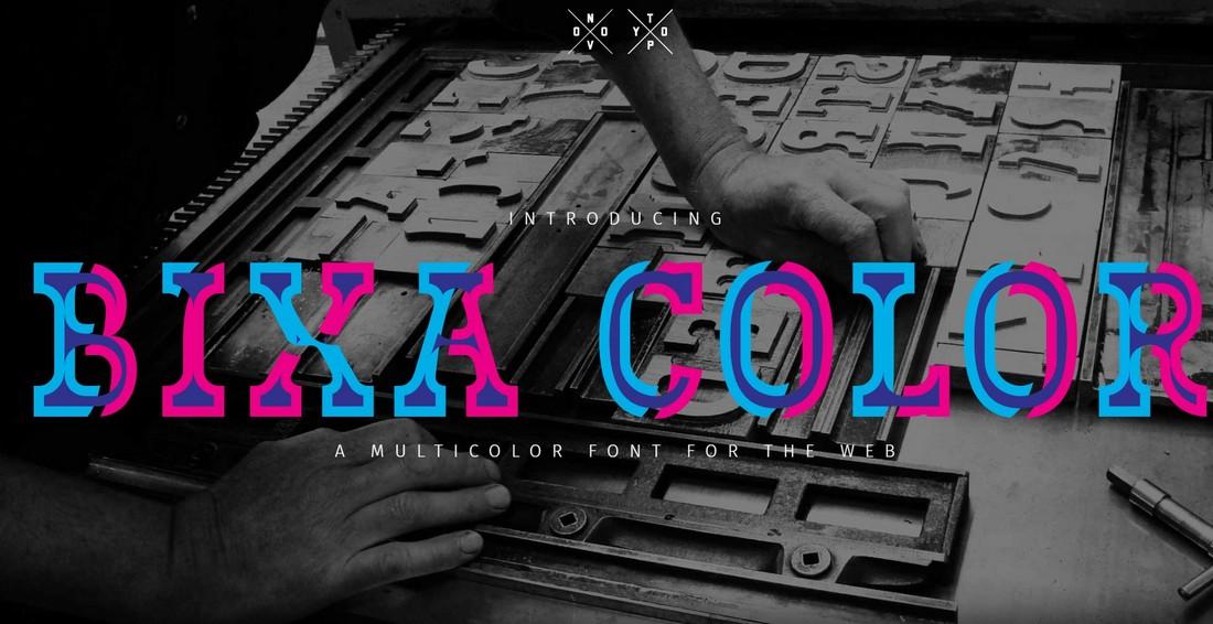 Bixa Color - Free Color Font