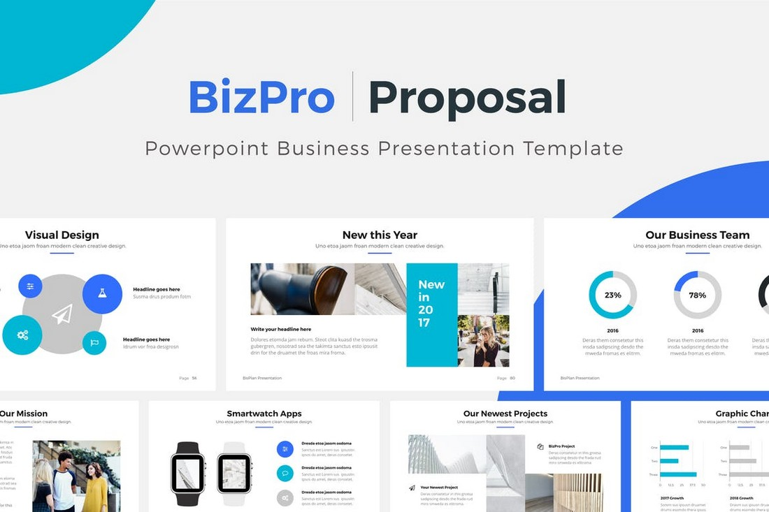 BizPro - Clean PowerPoint Proposal Template