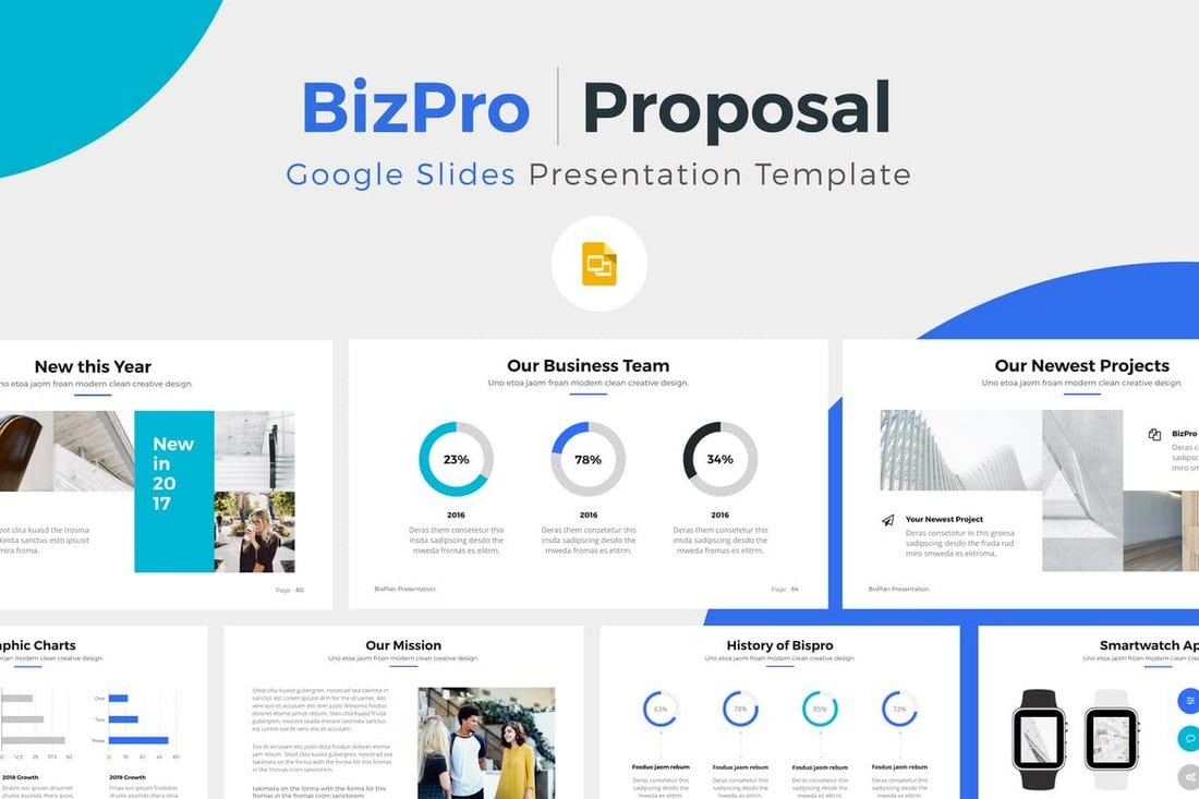 BizPro-Google-Slide-Presentation-Template 25+ Modern, Premium Google Slides Templates & Themes design tips