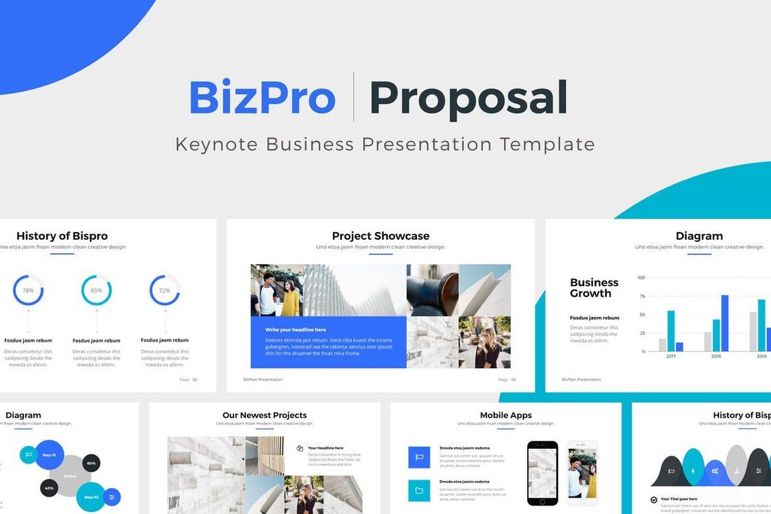 BizPro-Proposal-Keynote-Template 30+ Best Minimal & Creative Keynote Templates design tips