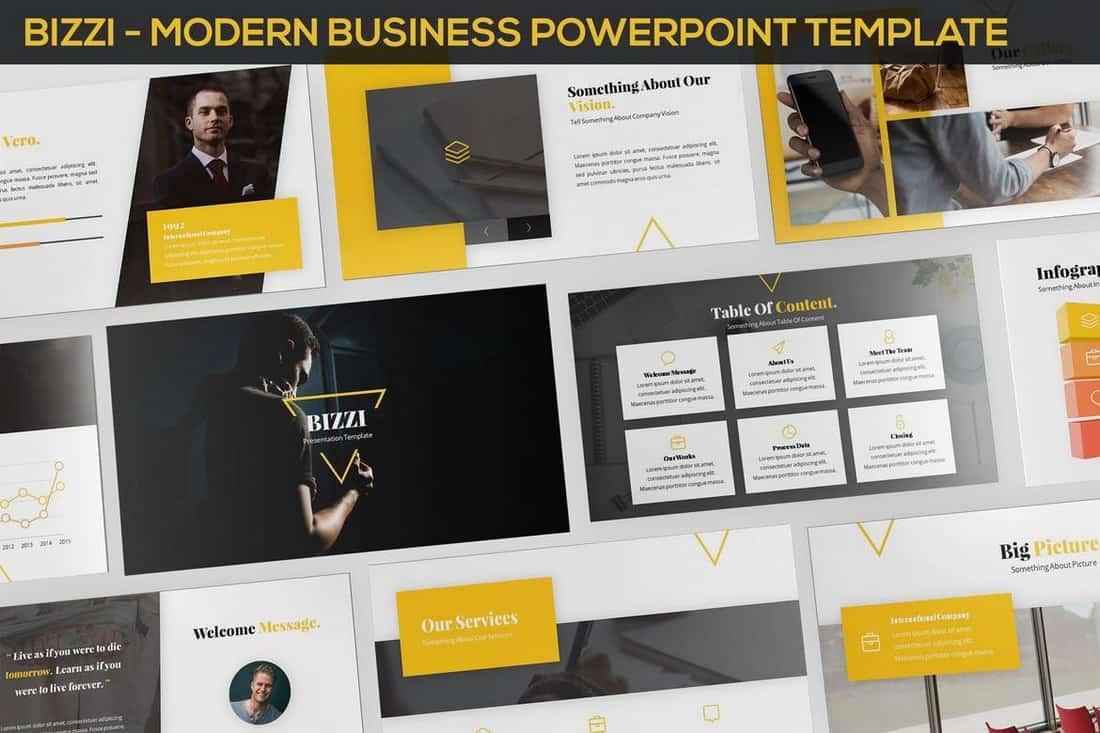 Bizzi - Modern Business Powerpoint Template