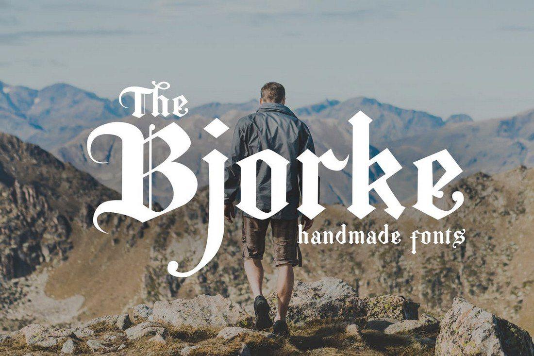 Bjorke-Handmade-Fonts 35+ Best Blackletter Fonts design tips