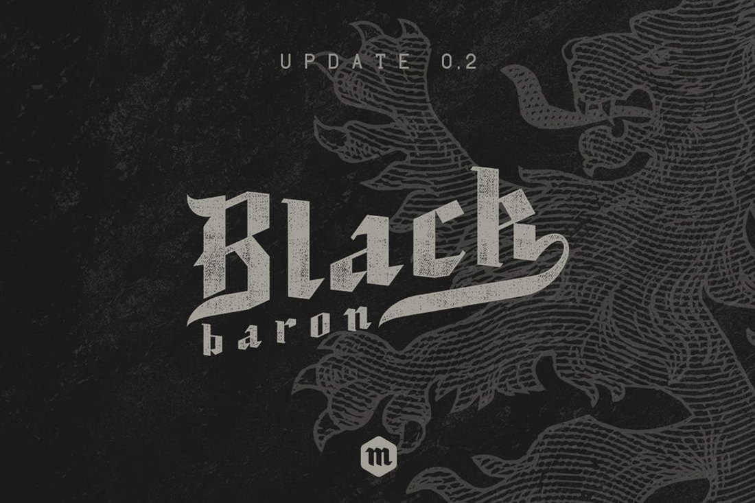 Black-Baron-Gothic-Font 20+ Best Gothic Fonts design tips