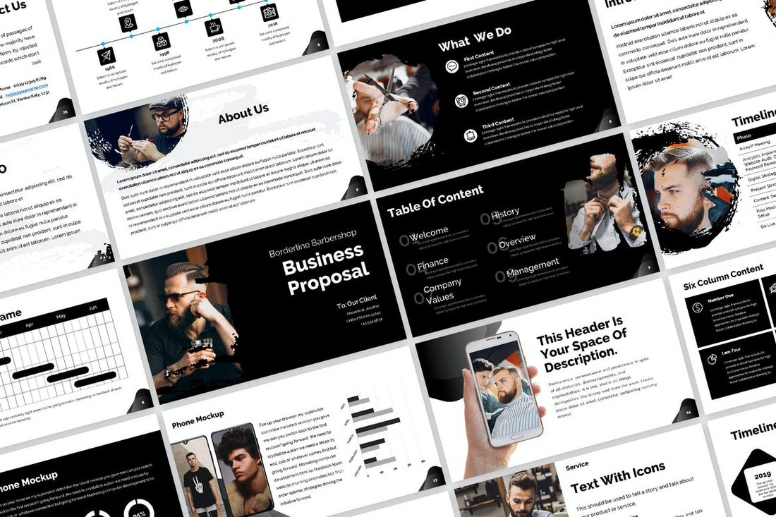 Black Business Proposal PowerPoint Template