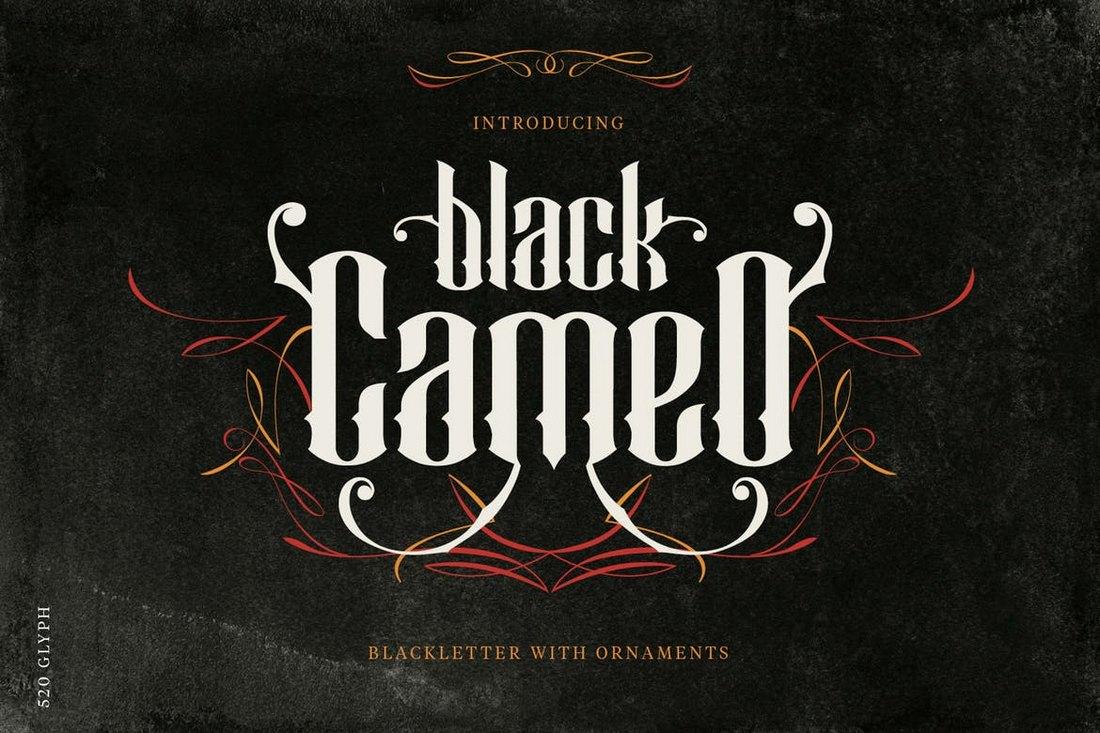 Black Cameo - Stylish Blackletter Font