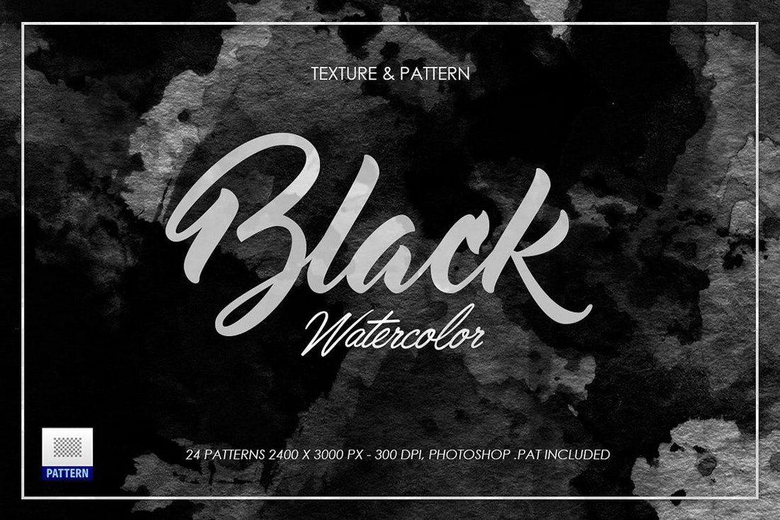 Black-Dark-Watercolor-Texture 30+ Best Subtle Black & White Background Textures design tips