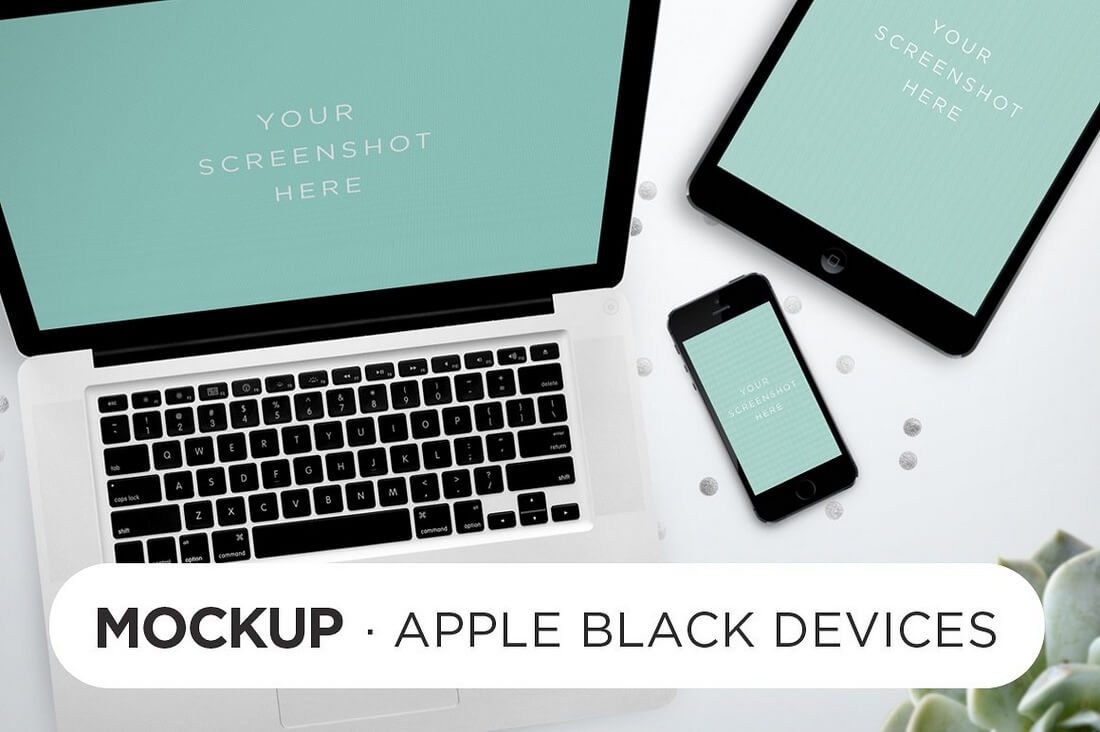 Black-Devices-Mockup 100+ iPad Mockup PSD & PNG Templates design tips