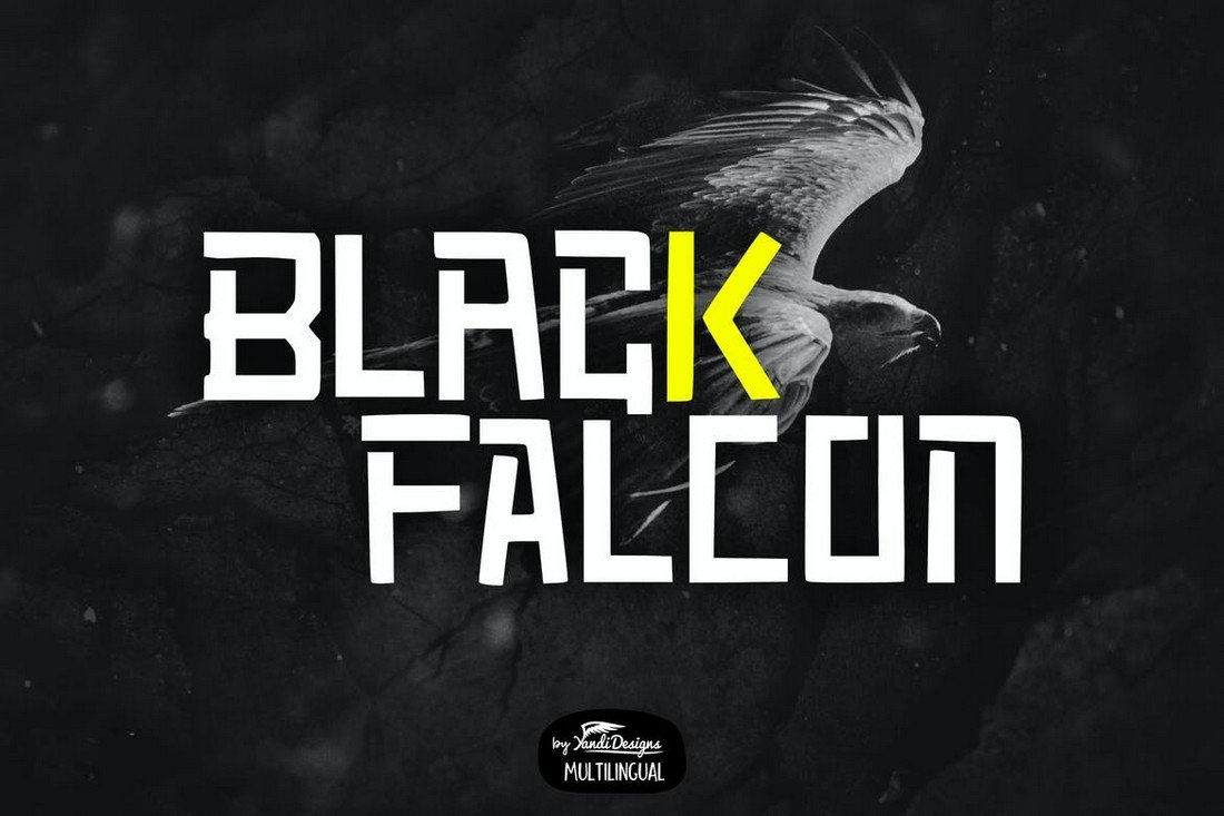 Black Falcon - Creative YouTube Font