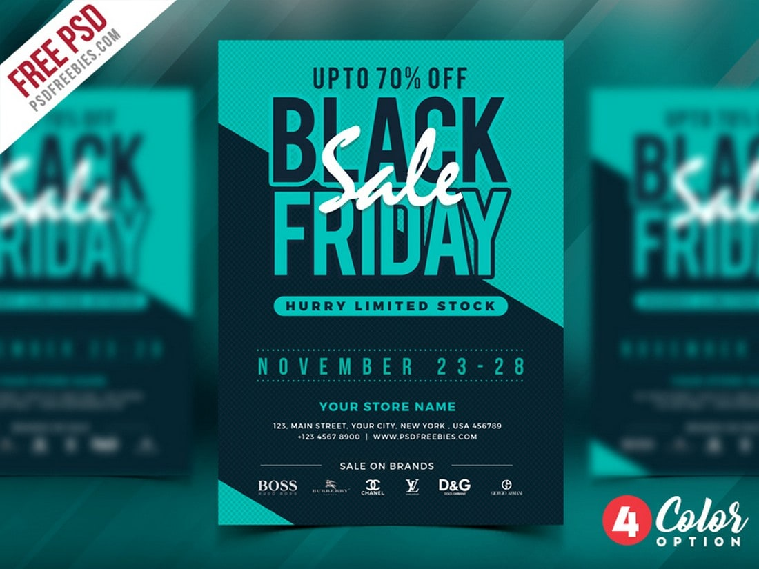 Black-Friday-Sale-Flyer-Poster-Template 20+ Best Free Poster Templates (Illustrator & Photoshop) 2020 design tips  Inspiration
