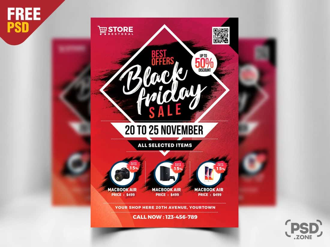 Black Friday Sale Free Flyer Template
