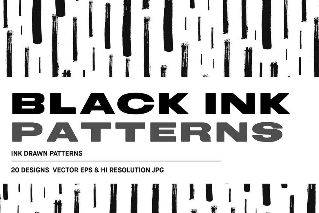 Black-Ink-Drawn-Patterns 30+ Best Line Patterns & Textures design tips