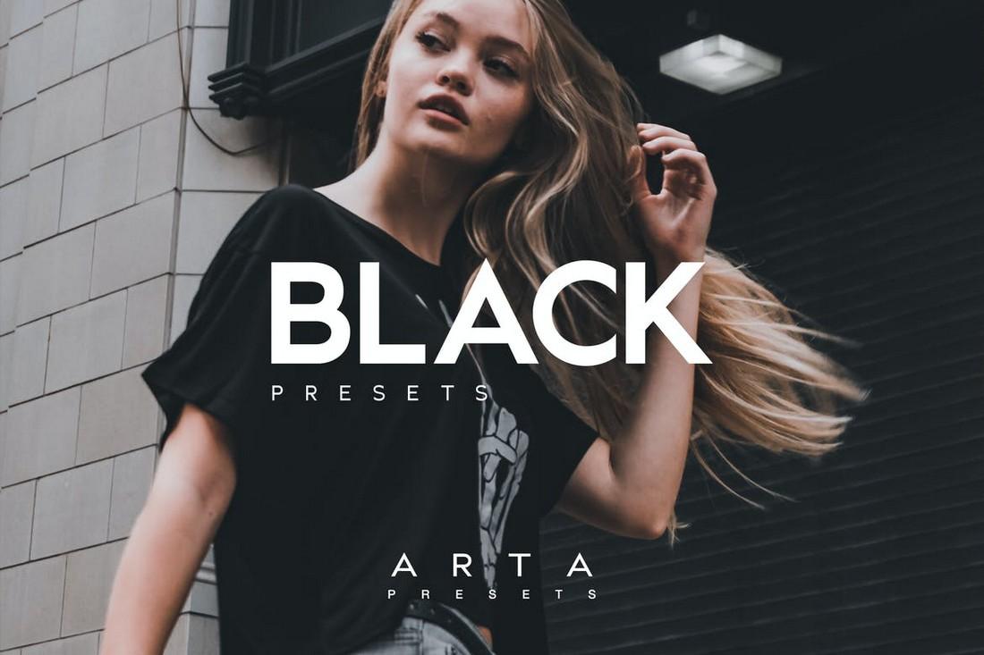 Black - Portrait Mobile Lightroom Presets