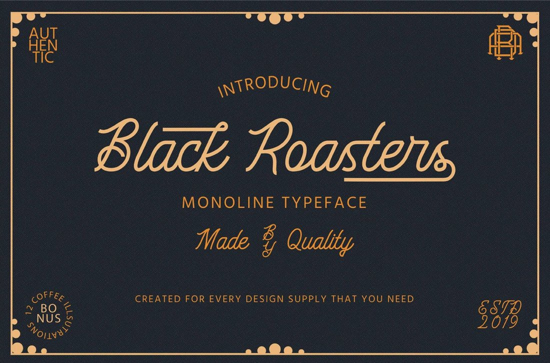Black-Roasters-Free-Monoline-Typeface 30+ Bold & Free Script Fonts design tips  Typography|fonts|script