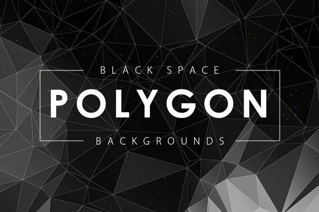 Black-Space-Polygon-Backgrounds-1 20+ Black Texture Background Graphics design tips