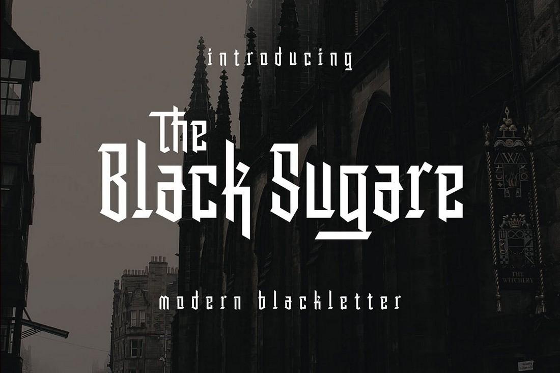 Black-Sugare-Modern-Blackletter-Gothic-Font 40+ Best Gothic Fonts design tips
