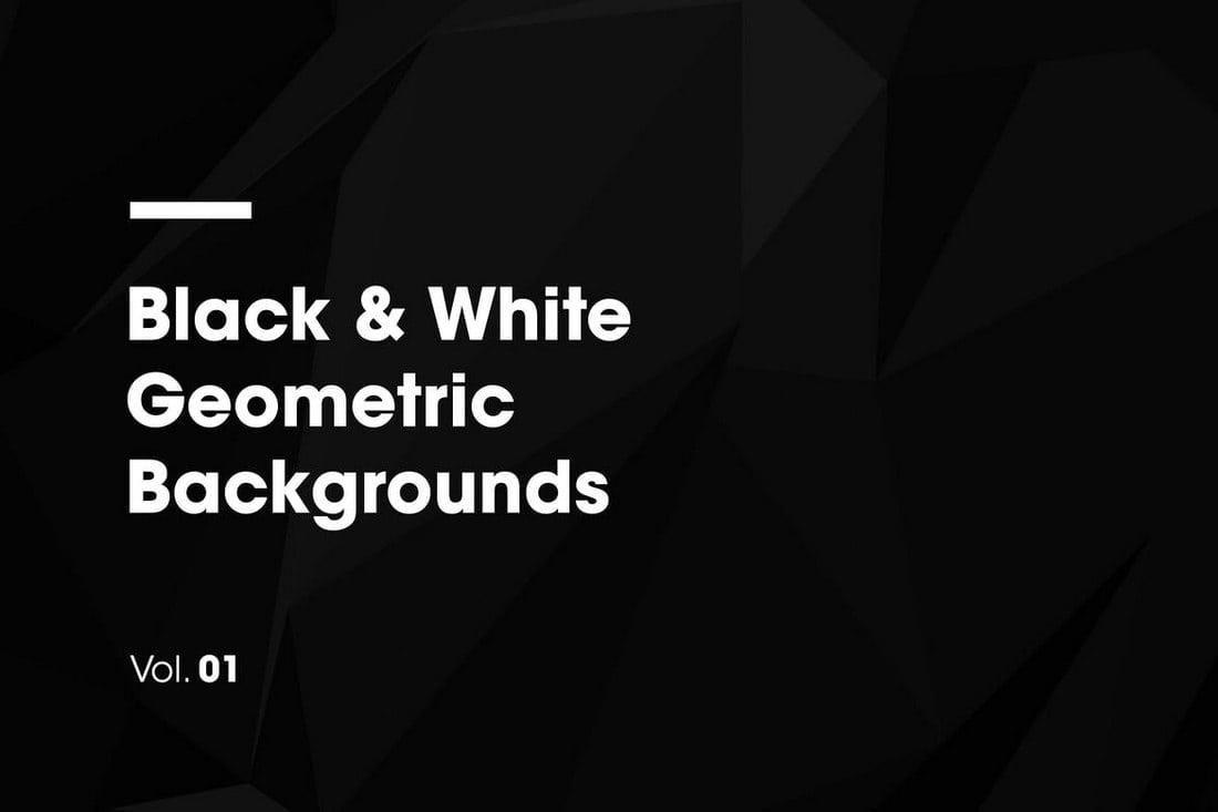 Black-White-Geometric-Backgrounds 20+ Black Texture Background Graphics design tips