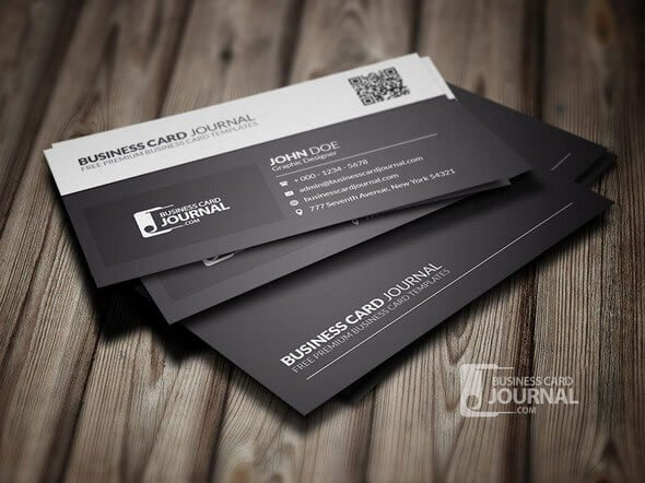 70 corporate creative business card psd mockup templates design black white qr code business card template flashek Gallery