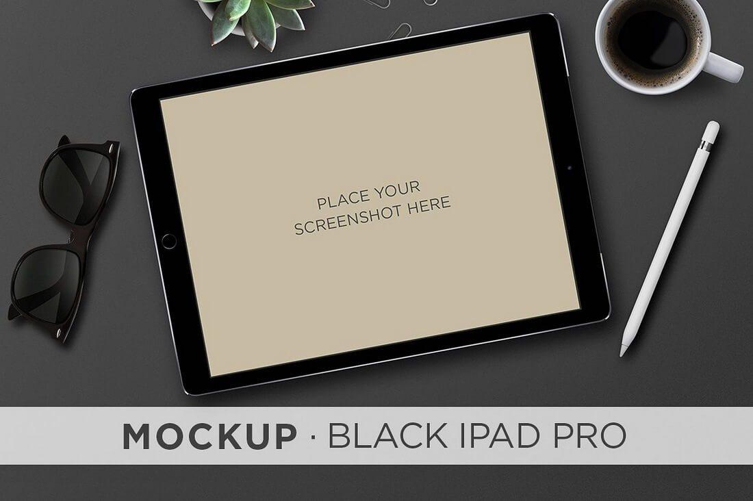 Black-iPad-Pro-Pencil 100+ iPad Mockups: PSDs, Photos & Vectors design tips