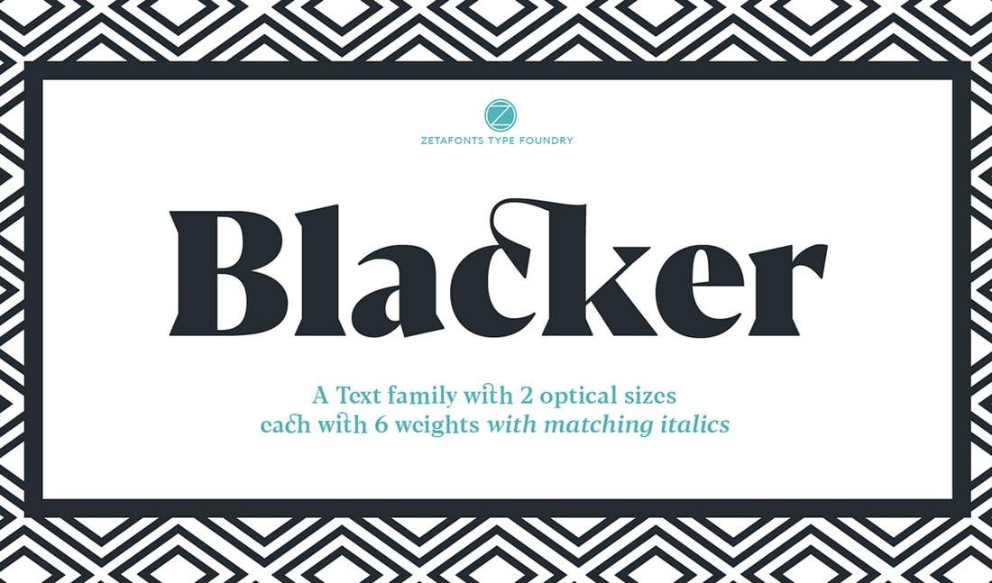 Blacker - Free Blackletter Font