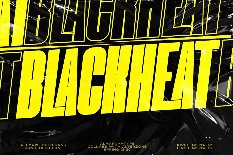 Blackheat - Bold Condensed Font