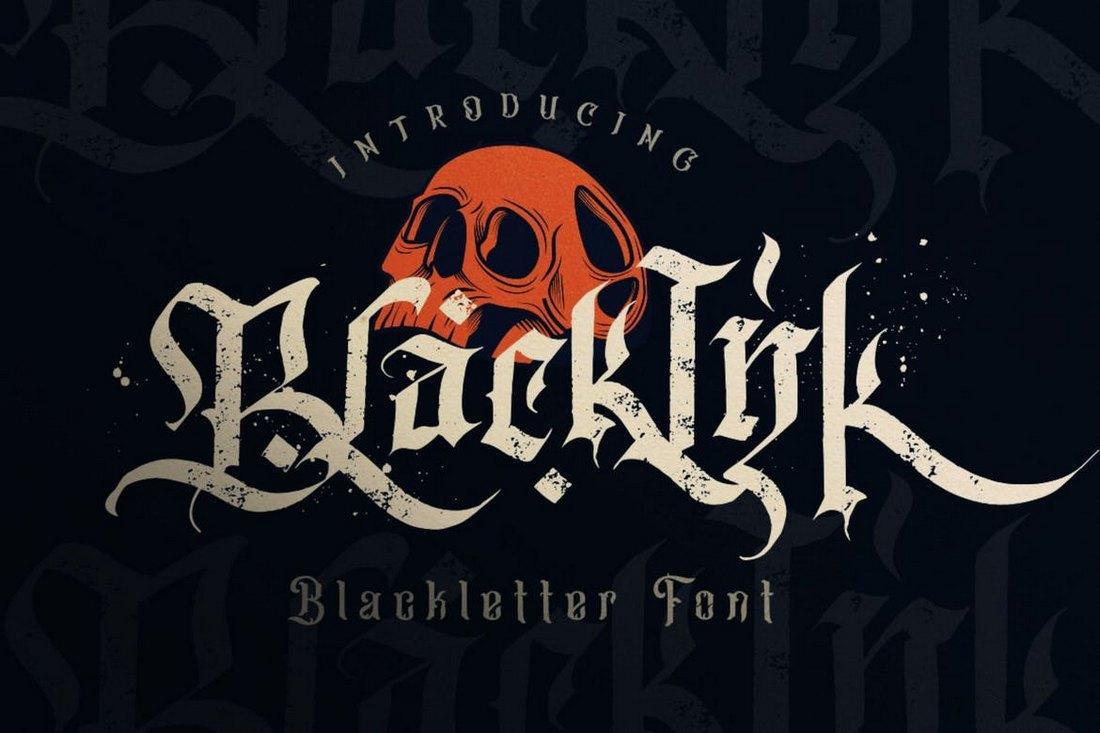 Blackink - Creative Blackletter Font