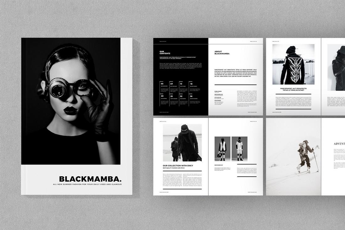 Blackmamba-Free-Fashion-Brochure-Template 70+ Modern Corporate Brochure Templates design tips