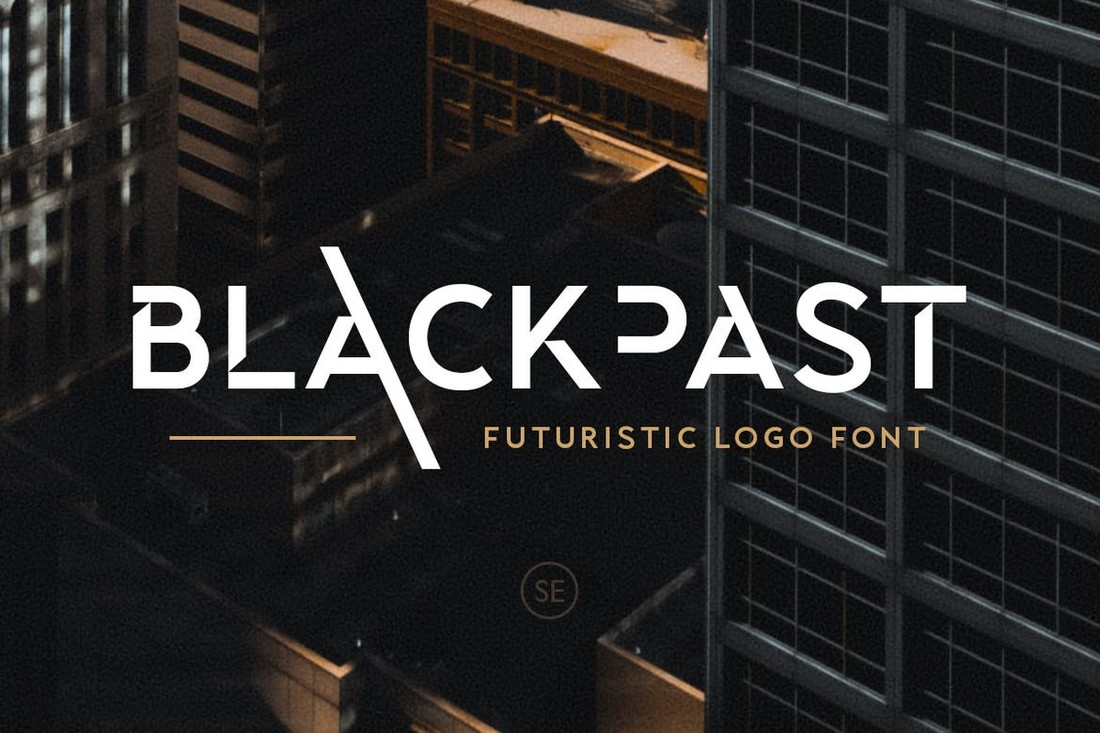 Blackpast - Futuristic Logo Font