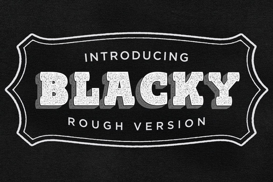 Blacky - Rough Chunky Font