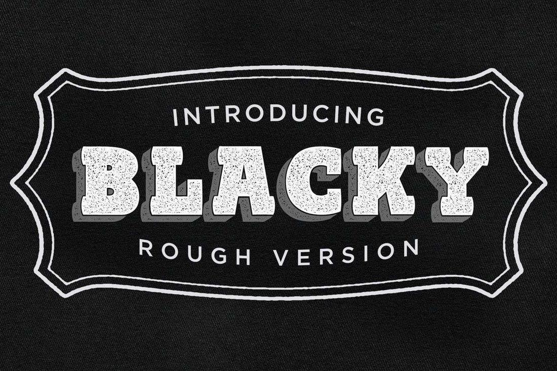Blacky-Typeface-Rough 50+ Best Slab Serif Fonts of 2021 design tips