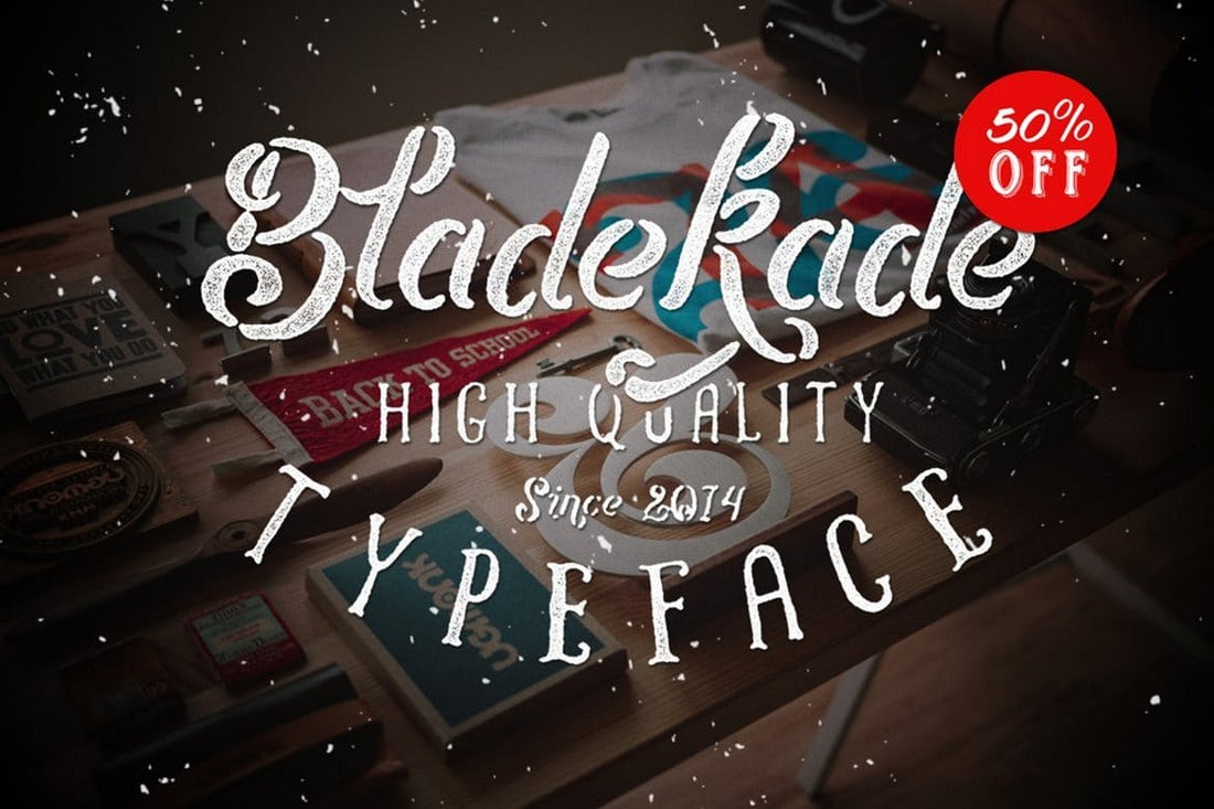 Bladekade-Stencil-Font 30+ Best Stencil Fonts design tips