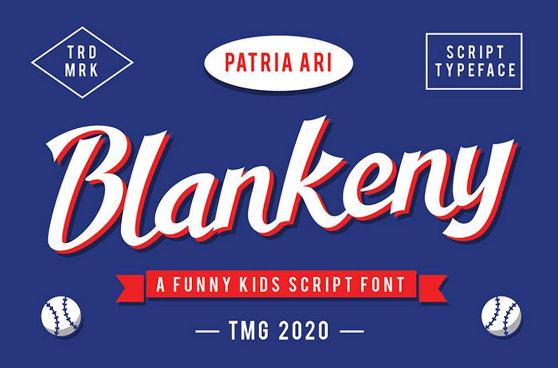 Blankeny - Free Creative Script Font