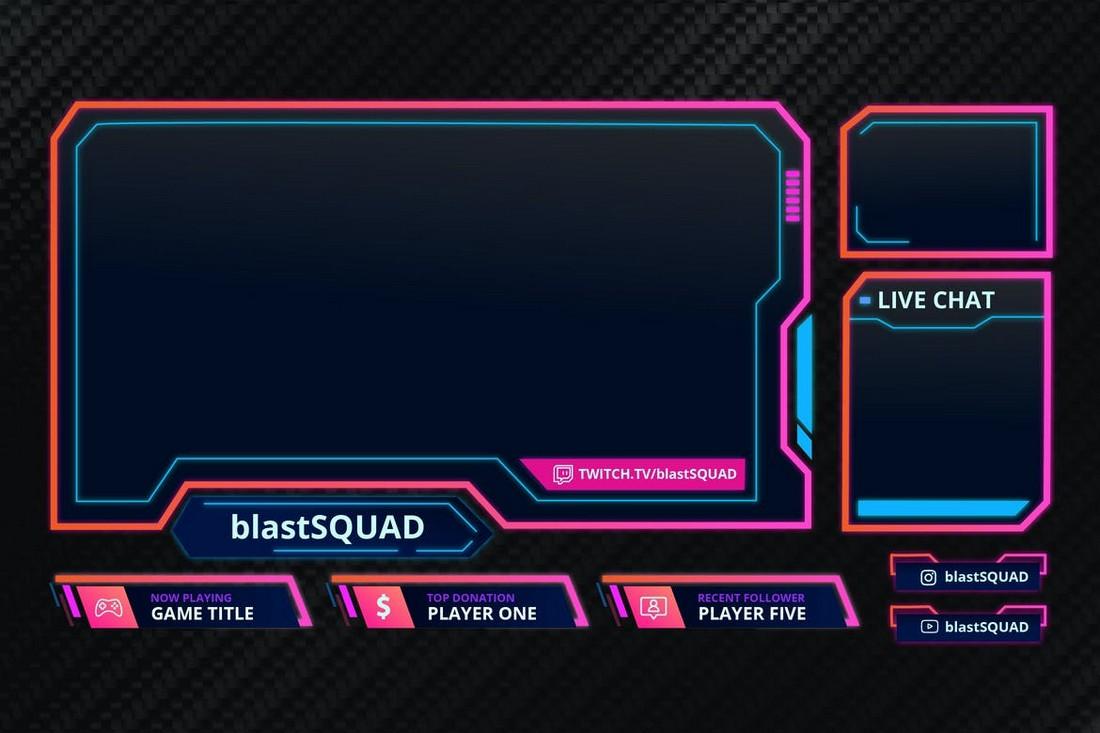 Blast Squad - Twitch Overlay Template