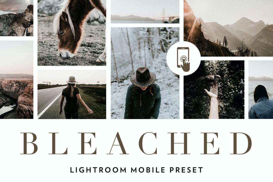 Bleached - Desturated Lightroom Mobile Presets