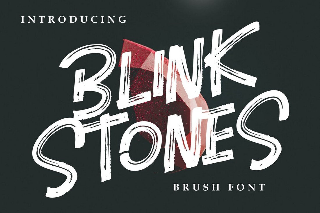 Blink-Stones-Creative-Brush-Font 100+ Beautiful Script, Brush & Calligraphy Fonts design tips