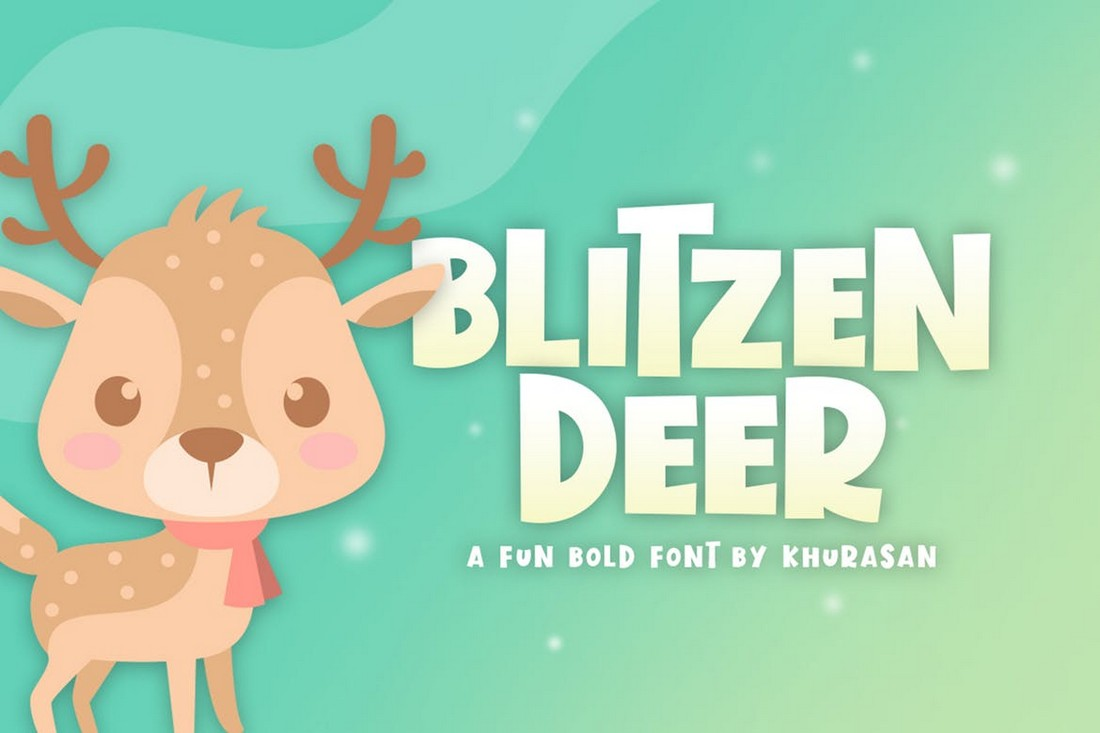 Blitzen Deer - Fun Children's Font