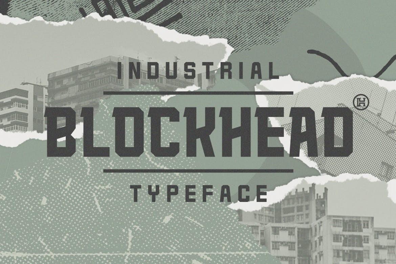 Blockhead - Geometric Block Font