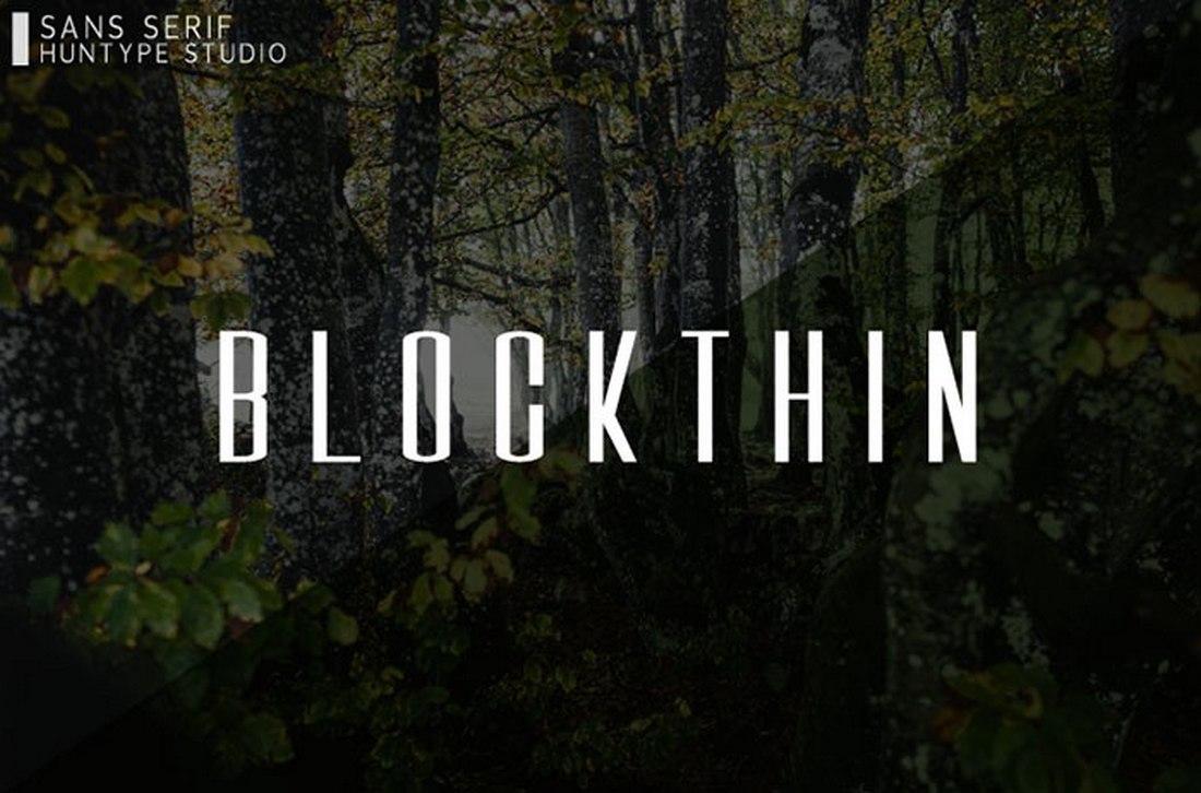 Blockthin - Free Block Letter Font 2