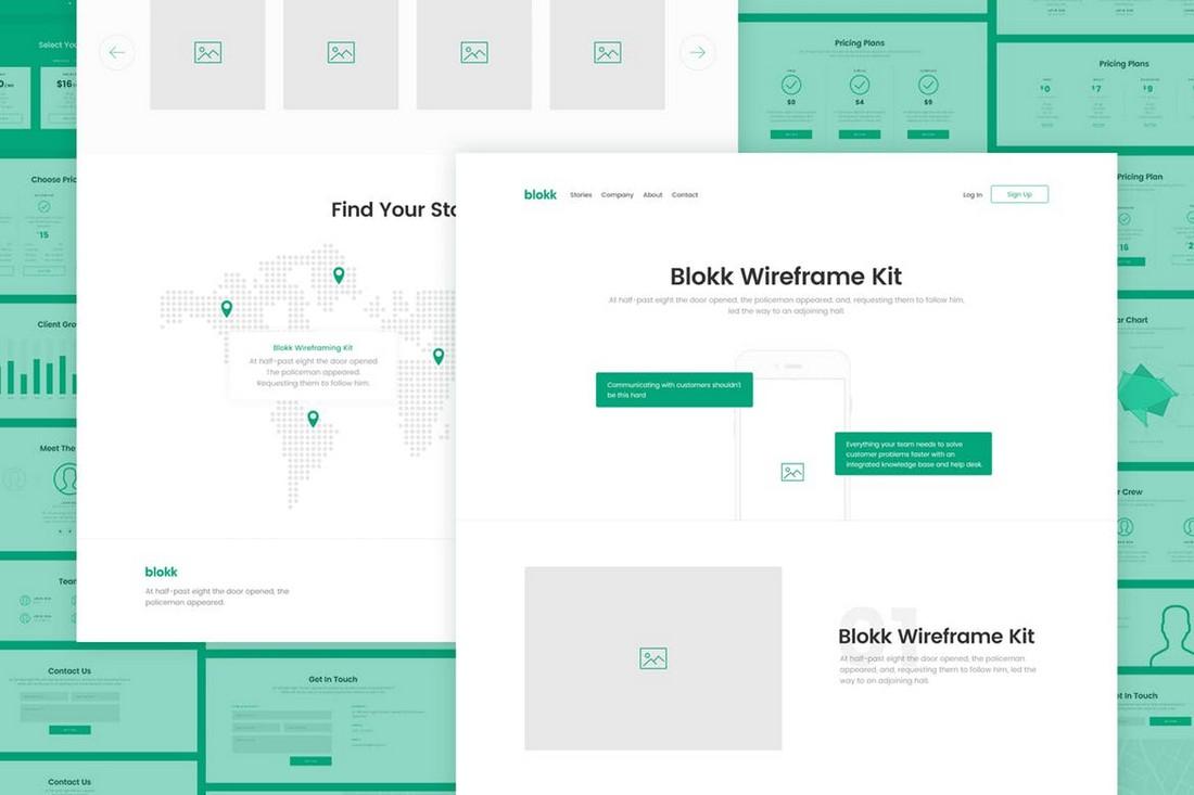 Blokk - 170+ Wireframe Kit for Sketch