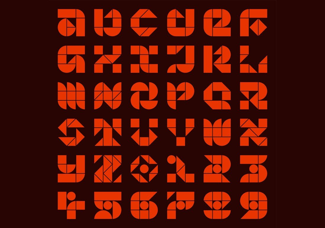 Blokmode Stencil - Free Numbers Font