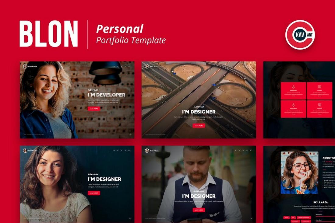 Blon-Personal-Portfolio-Template 10 Best Graphic Design Portfolio Examples + Templates design tips