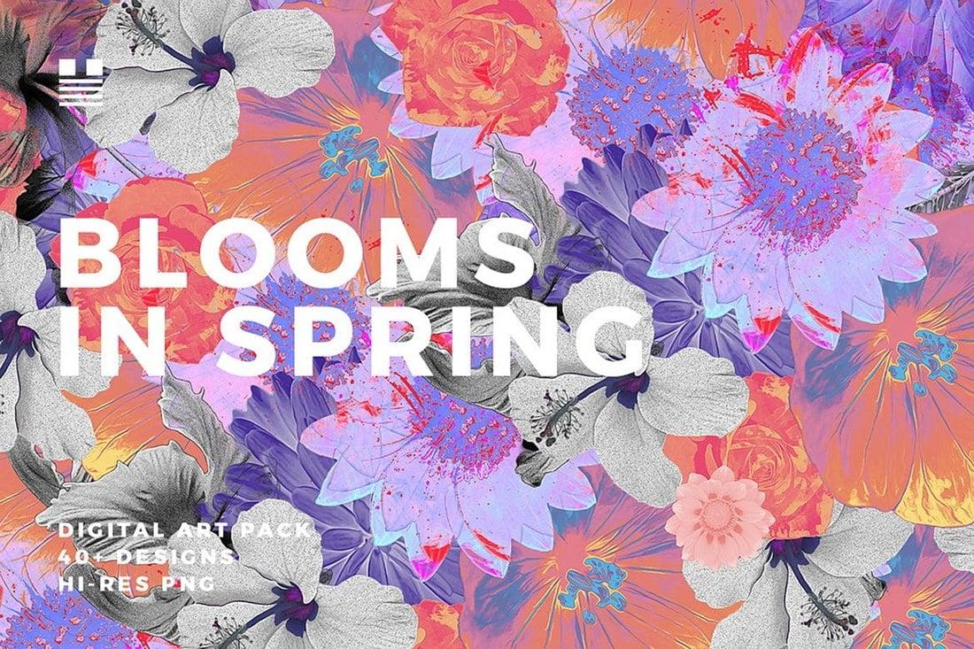 Fleurit au printemps - arrière-plans de fleurs