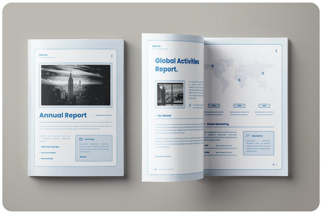 Blow.inc-Clean-Annual-Report-Template 50+ Annual Report Templates (Word & InDesign) 2021 design tips
