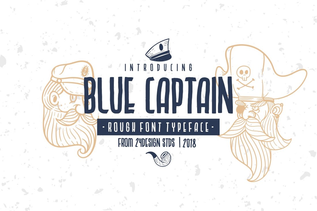 Blue Captain - Free Creative Hand Lettering Font