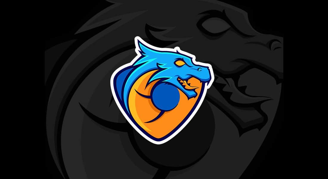 Blue Dragon Logo Template (AI & EPS)