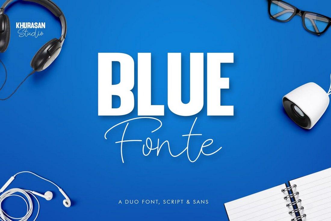 Blue Fonte - Headline Font Duo